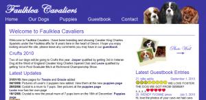 Faulklea Cavaliers Website